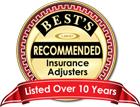 Recommended Insurance Adjuster